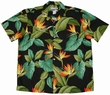 AIRBRUSH BIRD OF PARADISE - SCHWARZ - WAIMEA CASUAL